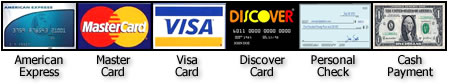 credit cards accepted during order